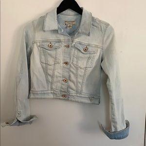 Guess Crop Denim Jacket in Size XS